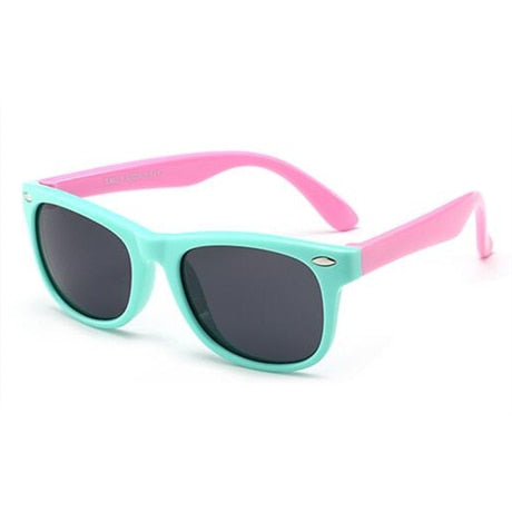 SOL Polarized Sunglasses Infant Sun Protection  | 0-2 Years | Pink and Teal