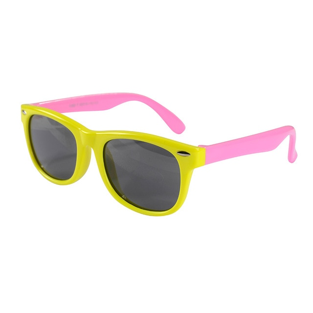 SOL Polarized Sunglasses Infant Sun Protection  | 0-2 Years | Pink and Yellow