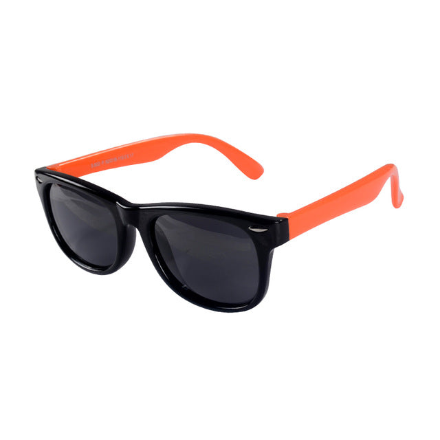 SOL Polarized Sunglasses Infant Sun Protection  | 0-2 Years | Black and Orange