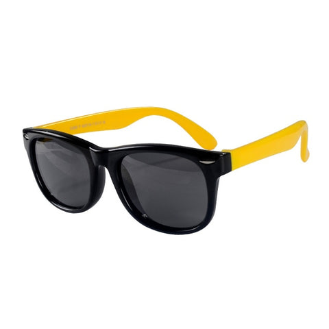 SOL Polarized Sunglasses Infant Sun Protection  | 0-2 Years | Black Rim + Yellow