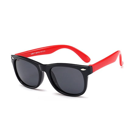 SOL Polarized Sunglasses Infant Sun Protection  | 0-2 Years | Black Rim+ Red