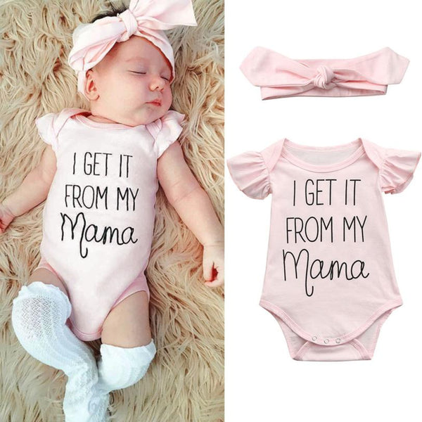 I Get It From My Mamma Onesie l  6-24M