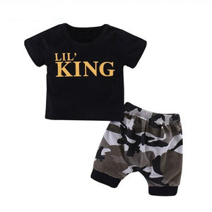LIL' King Camo Outfit Short Set | 3-24M