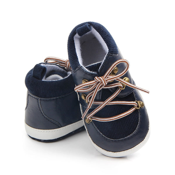 Tyler Blue Boots with Brown Laces | 0-18M