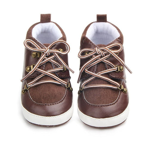 Tyler Brown Boots with Tan Laces | 0-18M