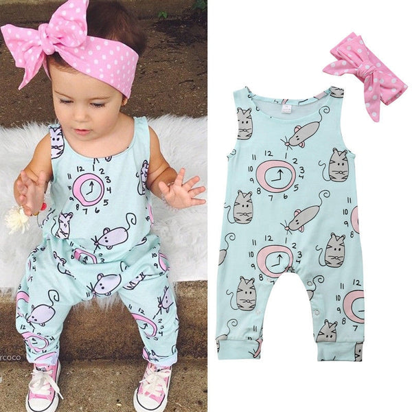 Addison Mouse Romper with bow | 6-24M