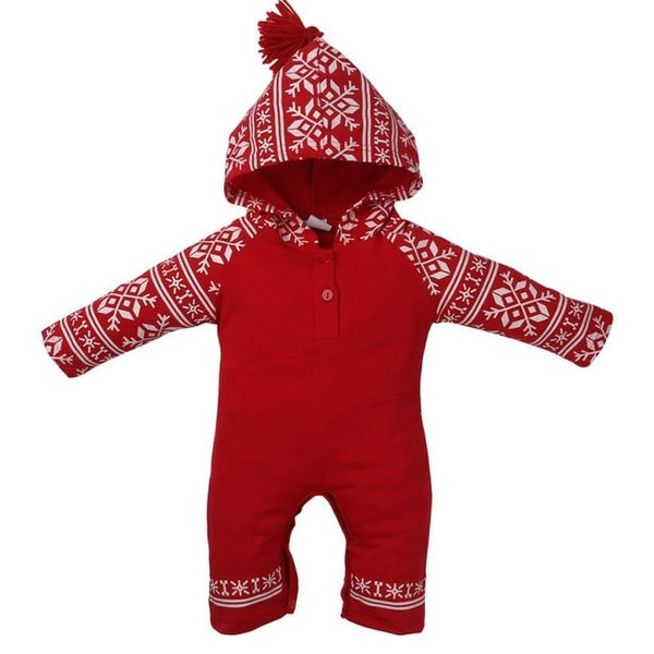 Snowflake Hooded Romper |