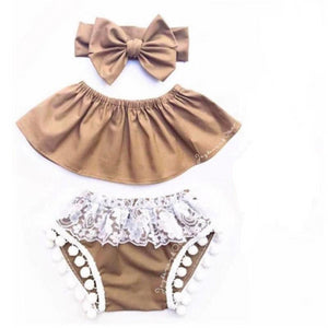 Charlotte Off the Shoulder 3 Piece | 0-24M