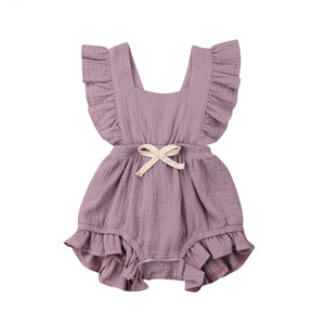 Baby Girl Ruffled Collar Sleeveless Romper Jumpsuit Clothes newborn baby rompers