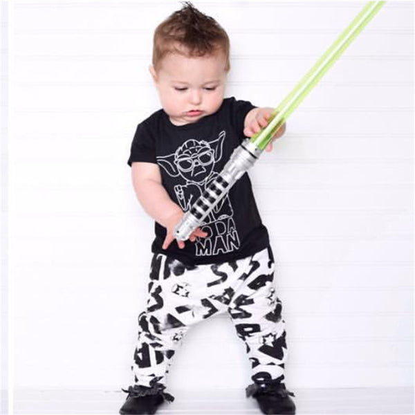 Star Wars Yoda Infant Baby Boys Bodysuit & Sleeveless Romper Clothing Set