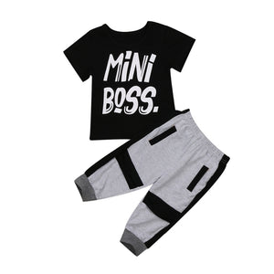 3pc Baby Set with Joggers, Bodysuit & Hat, Newborn Outfit, Baby Shower Gift, Baby's First Picture Set, TrendyBabySet mini boss