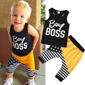 Boy Boss Tank Outfit Set | 9-24M