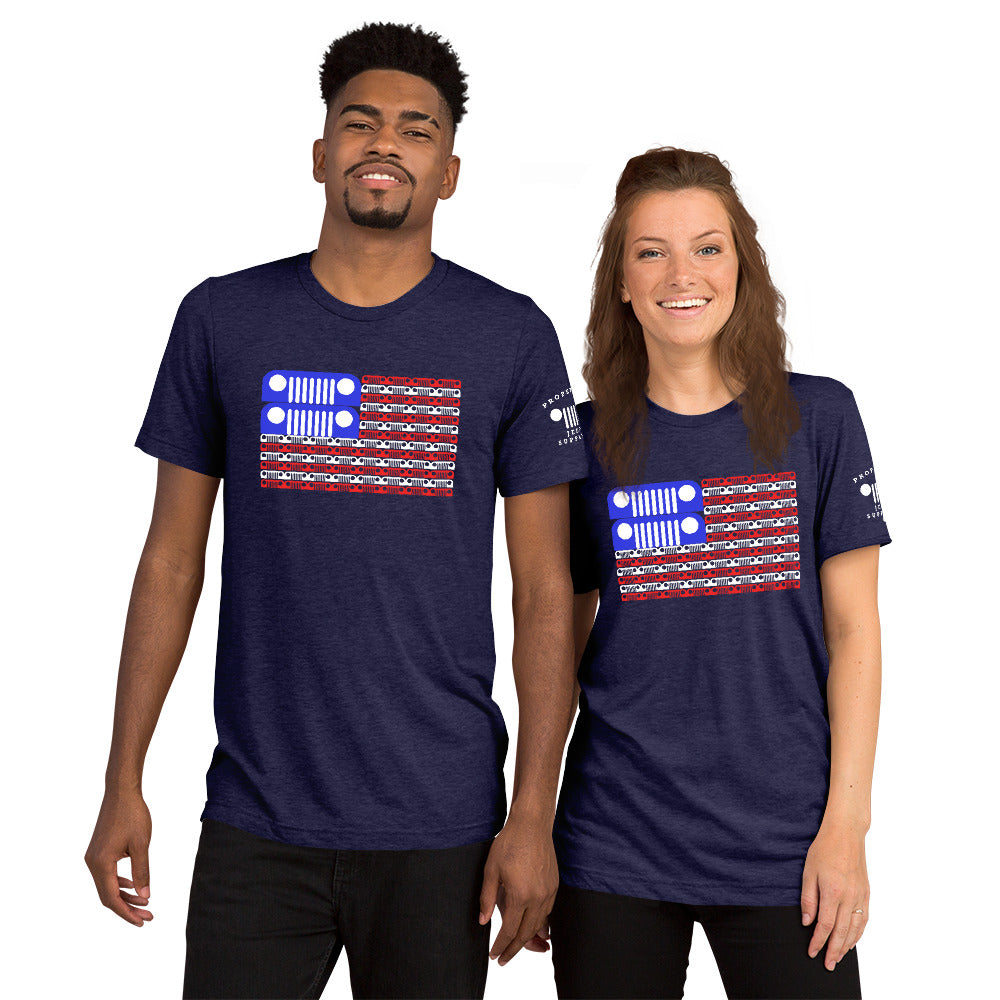 Jeep Grill USA Flag Tee