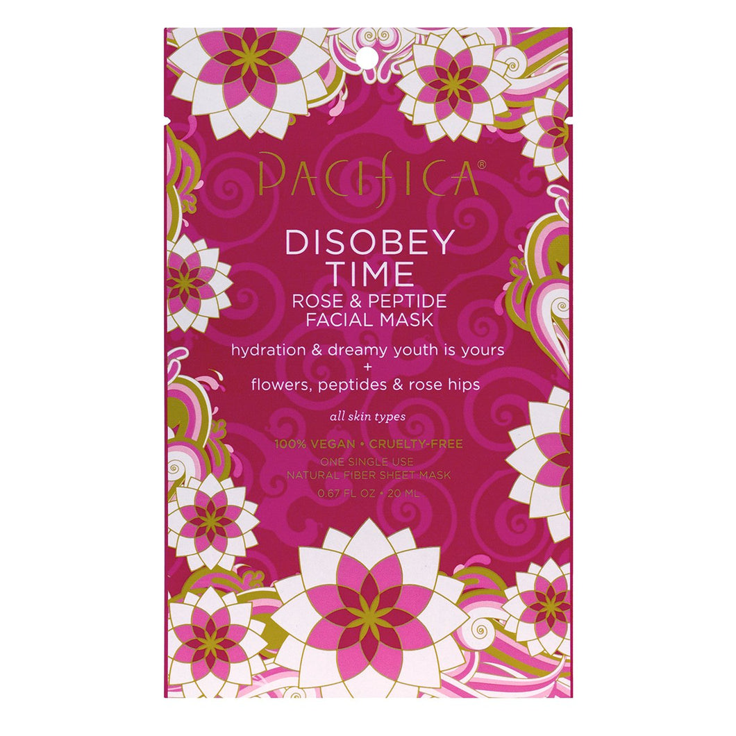 Masque en feuille Disobey Time Rose & Peptide