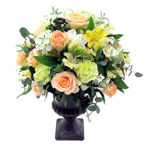Wedding Centerpiece - Cream Orange