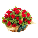 Crimson Rose Basket
