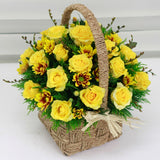Cheerful Yellow Basket
