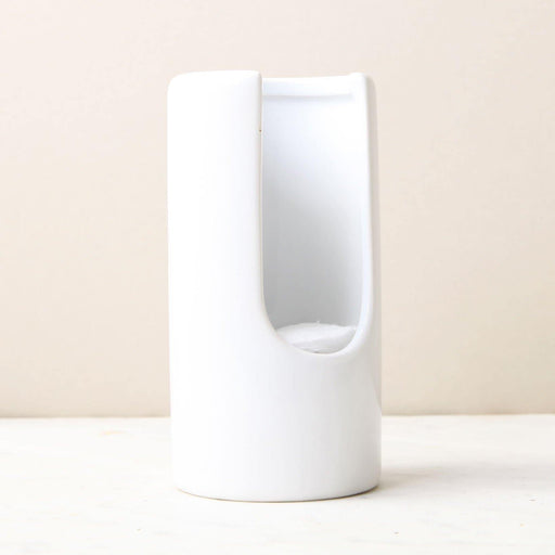 White Ceramic Cotton Pad Dispenser