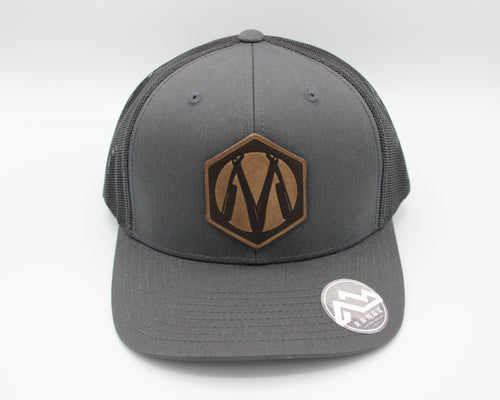 Martin Barber Co. 6 Panel Trucker Hat Charcoal/Black