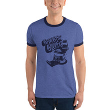 Load image into Gallery viewer, Empty Chair Barber Blues Ringer T-Shirt