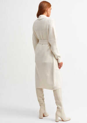 "Sarrah Belted Cardigan ""Off  White """