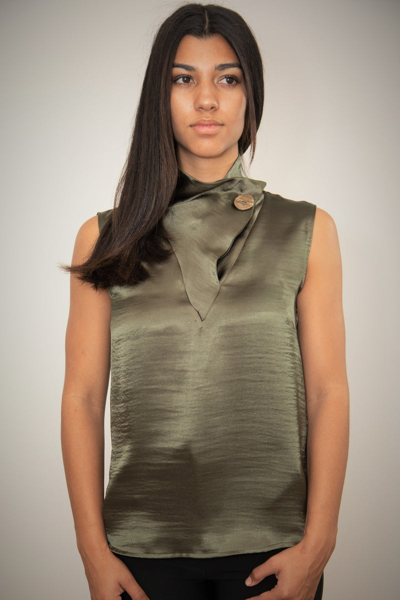 Tania Blouse ( Olive Green )