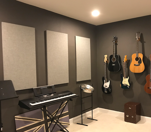 Review:  Acoustic Panels in Music Studio