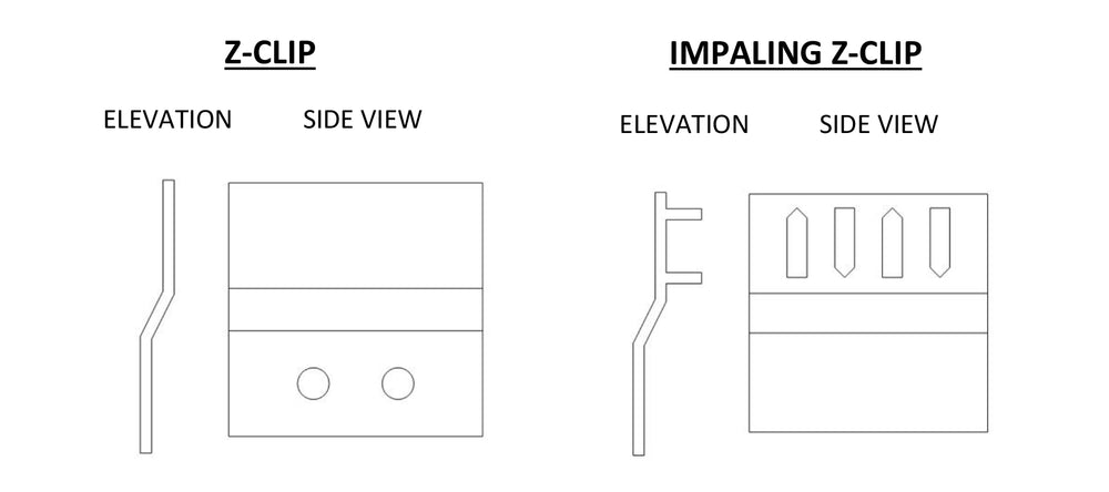 ADW Z-Clip Mounting Instructions for Acoustic Panels