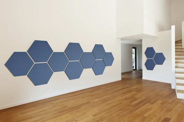 Acoustic Panels in Great Room - FR701 Baltic Hexagons