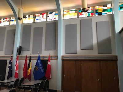 Acoustic Panels assist in eliminating undesirable echoing.