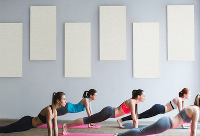Acoustical Panels reduce noise and echoes in Yoga Studios
