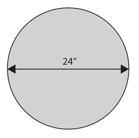 ADW Circle Acoustic Panel Dimension Drawing