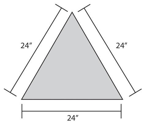 ADW Equilateral Triangle Dimension Drawing