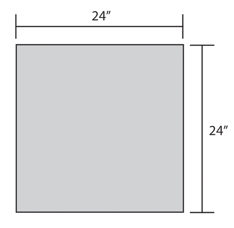ADW Square Acoustic Panel Dimension Drawing