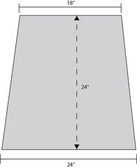 ADW Trapezoid Acoustic Panel Dimension Drawing
