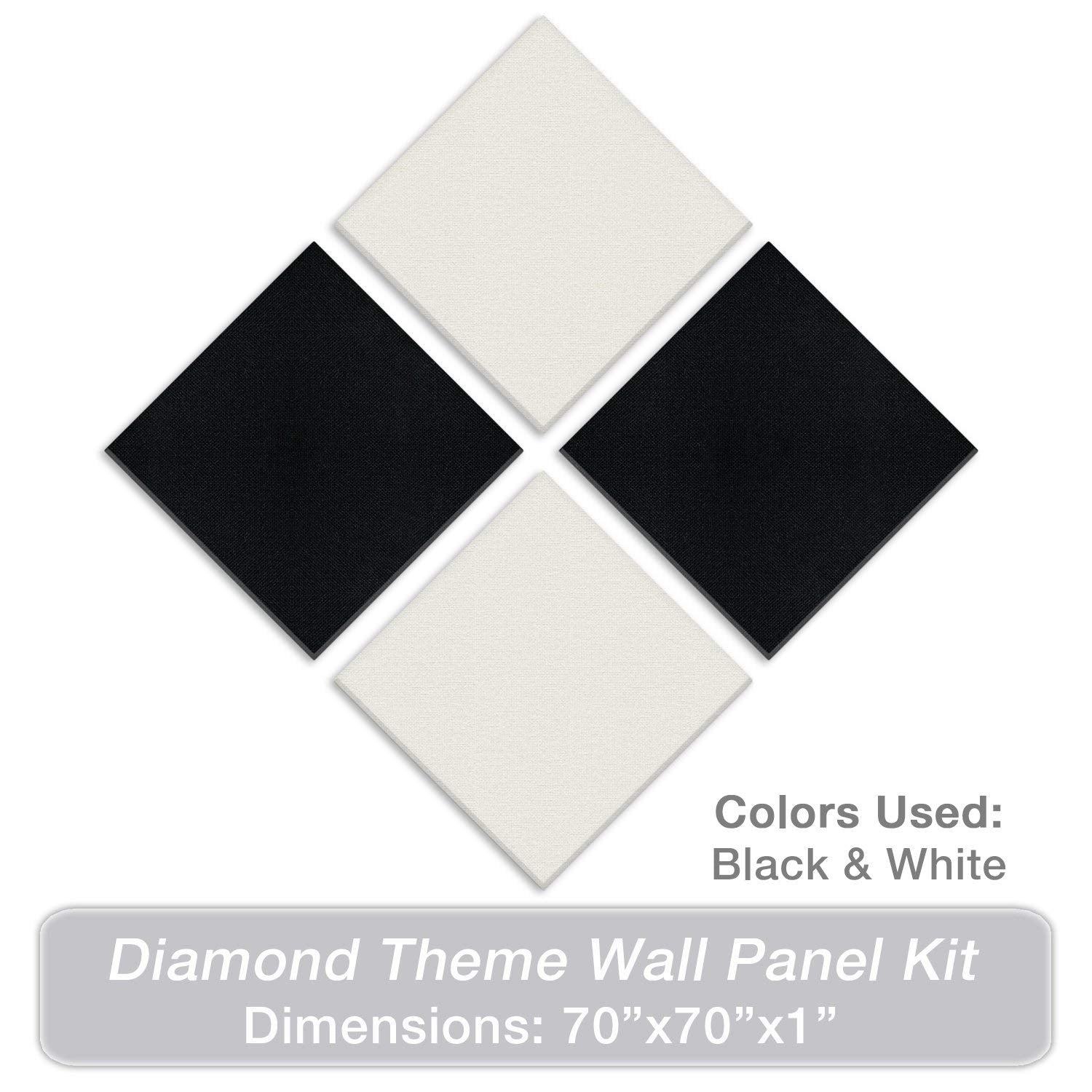"ADW Acoustic Panels Diamond Theme Kit - 70"" X 70"" X 1"""