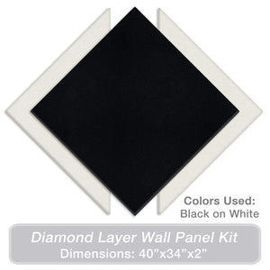 "ADW Acoustic Panels Diamond Layer Kit - 40"" X 34"" X 2"""