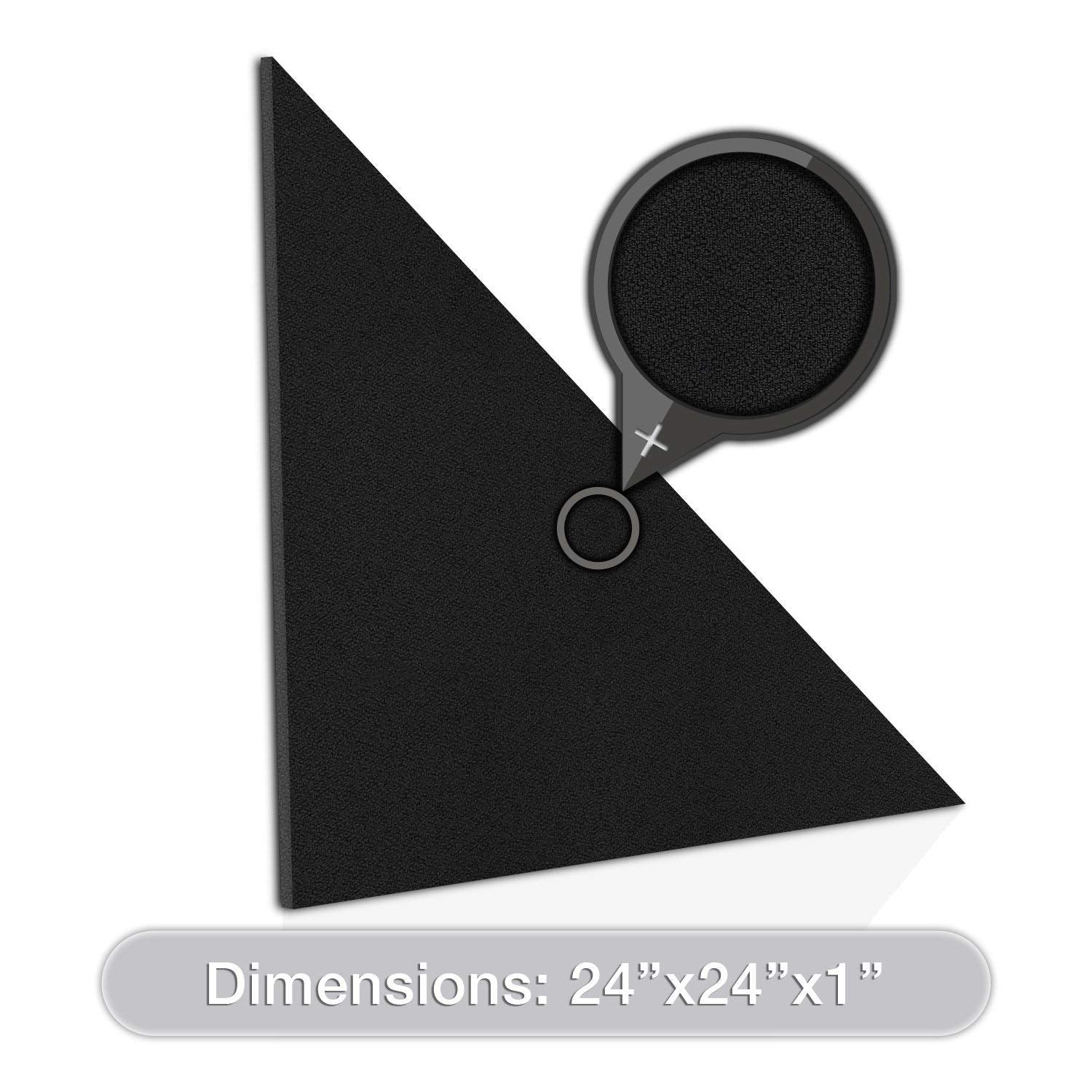 "[2-Pack] ADW Acoustic Panel Right Triangle - 24"" x 2"""