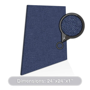 "ADW Acoustic Panels 24"" X 24"" X 1"" Trapezoid - Quick Easy DIY Install - See Our Many Color Choices"