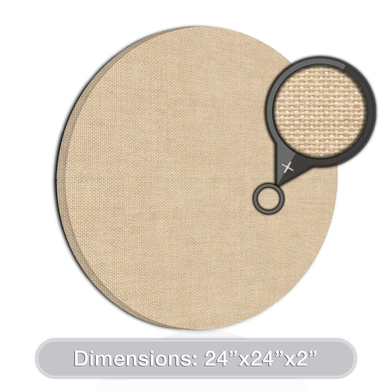 "[2-Pack] ADW Acoustic Panel Circle - 24"" diameter x 2"""