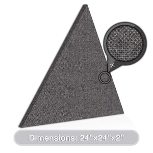 "[2-Pack] ADW Acoustic Panels 24"" X 24"" X 2"" Triangles - Fast, Easy DIY Install - See Our Many Colors"