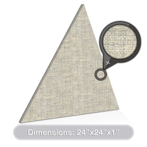 "ADW Acoustic Panels 24"" X 24"" X 1"" Triangle - Quick Easy DIY Install - See Our Many Color Choices"