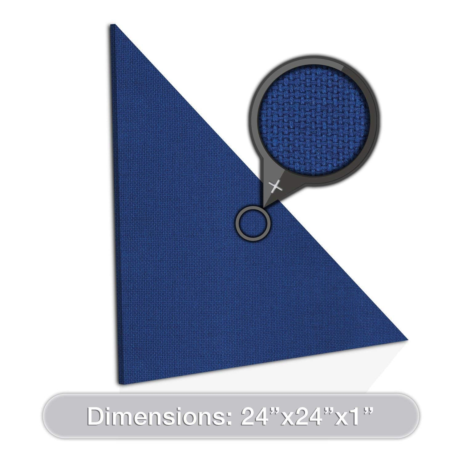 "ADW Acoustic Panels 24"" X 24"" X 1"" Half-Square - Quick Easy DIY Install - See Our Many Color Choices"