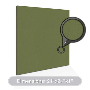 "ADW Acoustic Panels 24"" X 24"" X 1"" Square - Quick Easy DIY Install - See Our Many Color Choices"