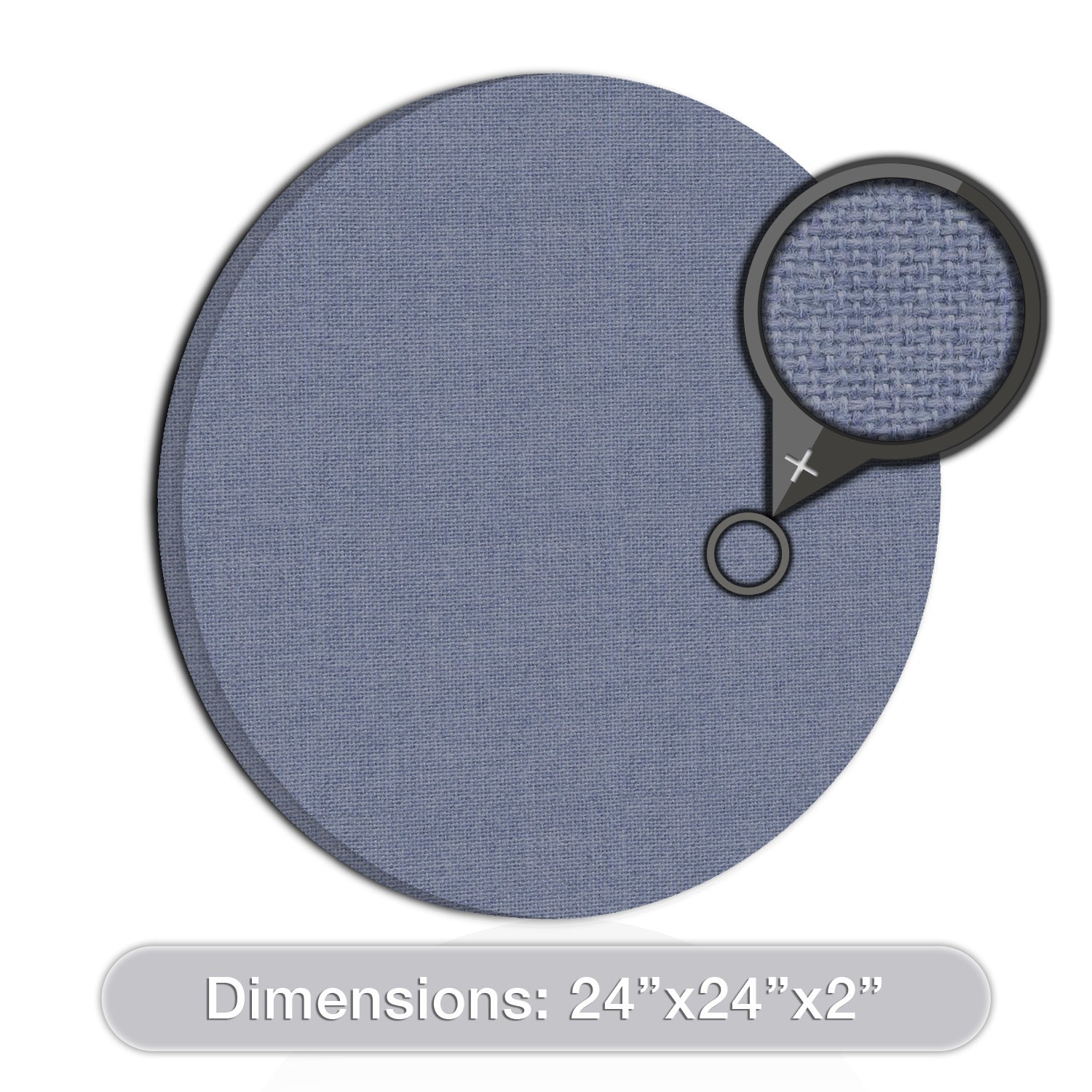 "[2-Pack] ADW Acoustic Panels 24"" X 24"" X 2"" Circles - Quick, Easy DIY Install - See Our Many Colors"