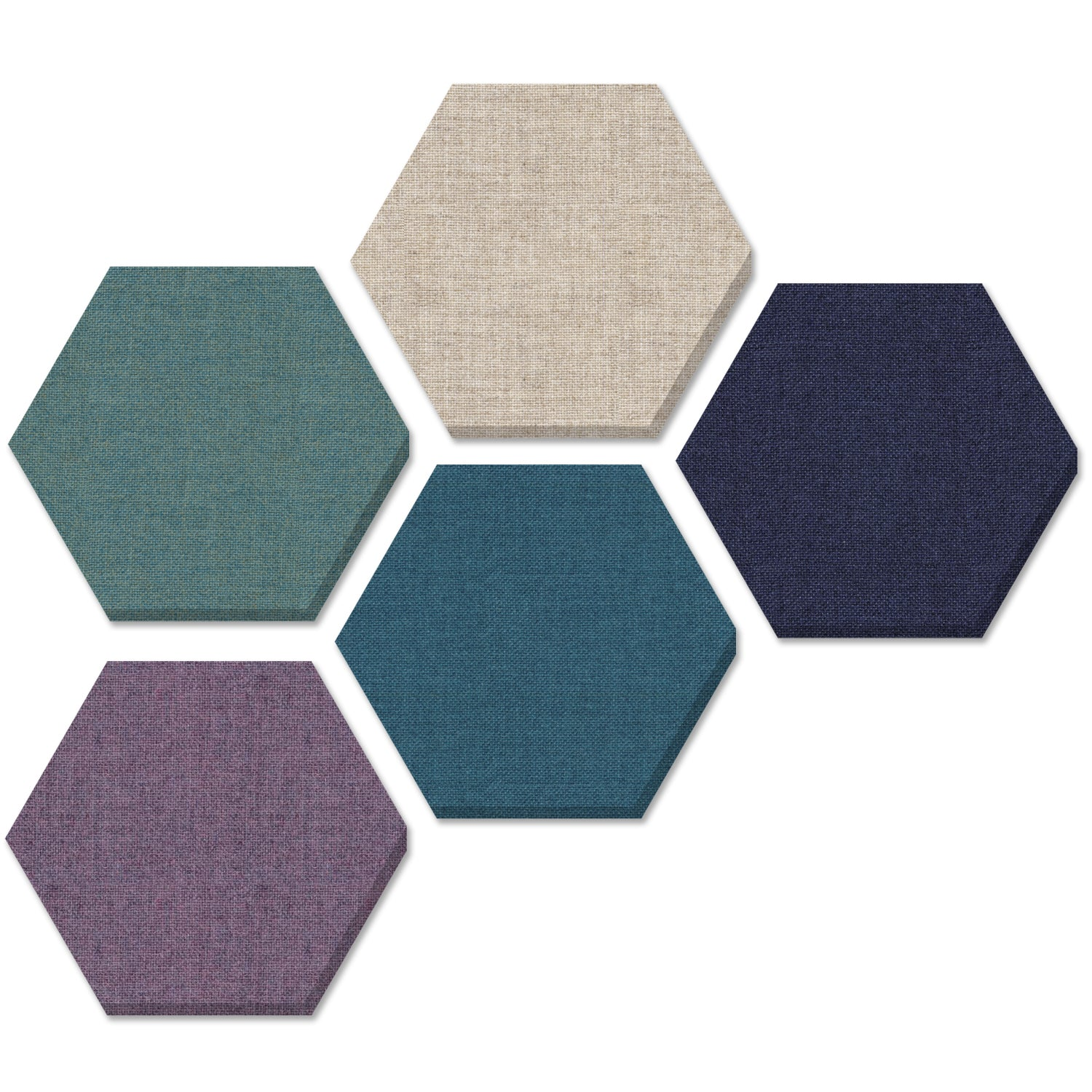 "ADW Acoustic Panel Hexagon Kit - 5 pieces 24""x24""x1"""