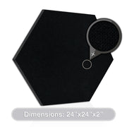 "ADW Acoustic Panel Hexagon - 24"" x 24"" x 2"""