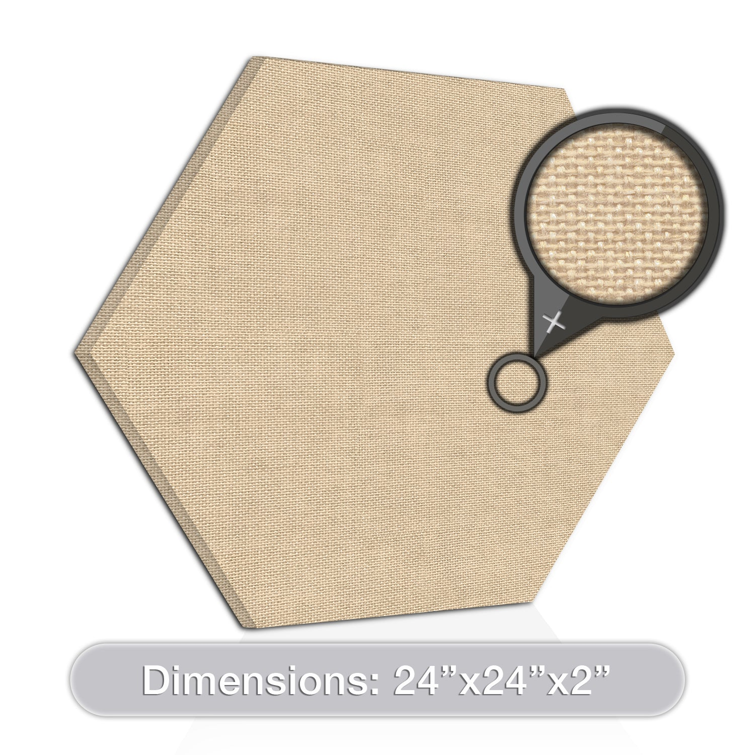"[2-Pack] ADW Acoustic Panels 24"" X 24"" X 2"" Hexagons - Quick, Easy DIY Install - See Our Many Colors"