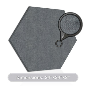 "ADW Acoustic Panels 24"" X 24"" X 2"" Hexagon - Quick Easy DIY Install - See Our Many Color Choices"