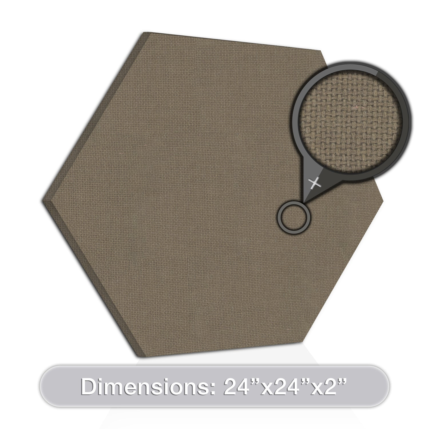 "[2-Pack] ADW Acoustic Panel Hexagon - 24"" x 24"" x 2"""